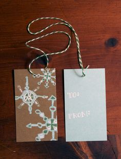 Snowflake Gift Tags - Pack of 10. $6.00, via Etsy.