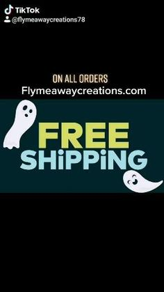 Shipping FREE on orders 🙂 at Flymeawaycreations.com