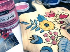 Add color to a woodburned pattern with DecoArt's new Color Stain. Let's the wood grain show thru. Wood Burning Crafts, Wood Burning Patterns, Wood Burning Art, Canvas Painting Designs, Diy Painting, Painting On Wood, Custom Woodworking, Woodworking Projects Plans, Modern Floral Design