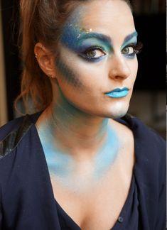 Halloween Makeup Idea: Pretty Sparkly Fish. Makeup by Gina Bettelli #halloweencostume #halloweenmakeup #fish #maccosmetics