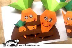 Kids Origami, Origami Easy, Diy For Kids, Crafts For Kids, Origami For Beginners, Beginner Origami, Printable Paper, Preschool Activities, Vegetable Garden