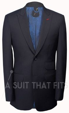 Black Distinguished Two Piece Suit with a Khaki lining.