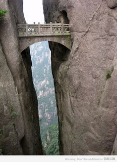 Fairy Walking Bridge in Huangshan Yellow Mountain China I beyond want to walk that someday! Dream Vacations, Vacation Spots, The Places Youll Go, Places To See, Parcs, Yellowstone National Park, Adventure Is Out There, Wonders Of The World, Places To Travel
