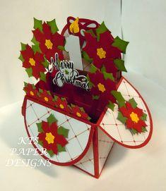 KTS Paper Designs: Card in a Box - Christmas Poinsettia
