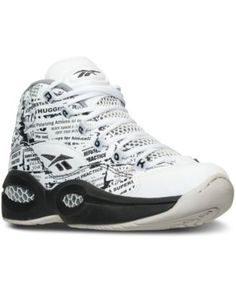 Reebok Boys' Question Mid Basketball Sneakers from Finish Line