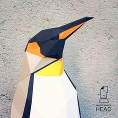 Papercraft penguin  printable DIY template