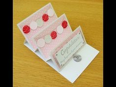 Mini Easel Card with drawer (Stampin Up) - YouTube