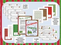 Christmas Coupons - No Cost Gifts - Looking for a no cost gift that children can put a lot of love into? Christmas Coupons are perfect for you. The idea behind these coupons is instead of giving someone special a bought present, they give them coupons that entitle the receiver to gifts such as: - breakfast in bed - bear hugs for a week - taking out the trash etc  This booklet includes lots of variety for teachers and children to make a great little Christmas Coupon Folder and Coupons.