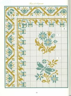 Borders in cross stitch 7 Cross Stitch Boards, Cross Stitch Art, Cross Stitching, Cross Stitch Embroidery, Cross Stitch Patterns, Ribbon Embroidery, Embroidery Patterns, Cross Stitch Geometric, Cross Stitch Cushion