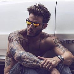 Street Affaires is an online retailer providing high quality affordable fashion sunglasses. Our fashionable sunglasses are trendy and ship worldwide Sexy Tattoos, Tattoos For Guys, Kneck Tattoos, Hot Men, Hair Men Style, Inked Men, Hommes Sexy, Male Beauty, Tom Hardy