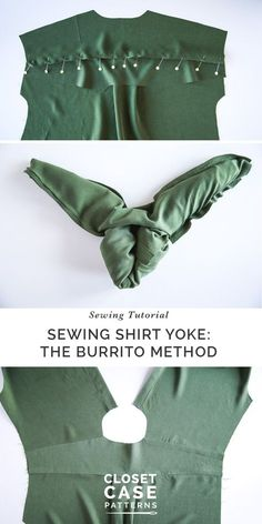 Sewing Techniques Couture Learn how to sew a shirt yoke using the burrito method. Read the sewing tutorial. Techniques Couture, Sewing Techniques, Sewing Hacks, Sewing Tutorials, Sewing Tips, Dress Tutorials, Sewing Basics, Sewing Ideas, Sewing Blogs