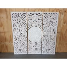 Houtsnijwerk paneel Barcelona white wash 180 x 180 cm Christmas Centerpieces, Wood Projects, Divider, Barcelona, Furniture, Home Decor, Room Ideas, Decoration, Products