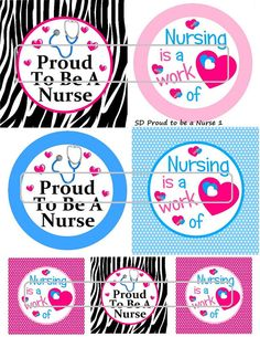 DIY Printable Proud to be a Nurse Shrinky Dinks by MaddieZee, $1.25