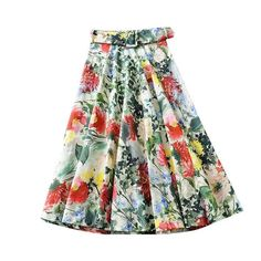 Vintage Stylish With Sashes Floral Print Midi Skirt Women Side Zipper Pleated Ladies Skirts Casual Faldas Mujer Size XS Color as picture Vintage Skirt, Vintage Floral, Dress Sash, Casual Skirts, Personal Stylist, Vintage Patterns, Ideias Fashion, Midi Skirt, Floral Prints
