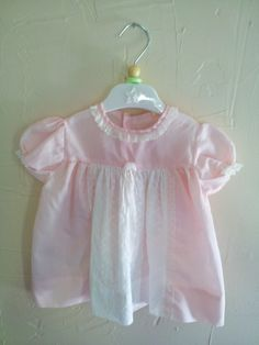 Vintage Handmade Baby Pink Dress With Delicate by rockpapermagic, $18.00