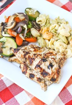 This Greek Style Chicken Marinade is flavorful and made with pantry staples - don't grill plain chicken ever again. Greek Recipes, Whole Food Recipes, Dinner Recipes, Healthy Recipes, Arabic Recipes, Low Carb Chicken Recipes, Grilled Chicken Recipes, Grilled Food, Keto Chicken