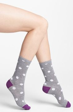 Nordstrom 'Soft Touch' Crew Socks available at #Nordstrom