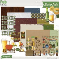 Pub Collection Digital Scrapbooking Kit by Jennifer Ziegler   ScrapGirls.com