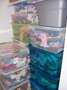 Foster Parent Friday Tips - storing clothes & items for kids in #fostercare