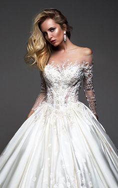 Courtesy of Oksana Mukha wedding dresses; www.oksana-mukha.com #weddingdress