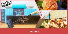 """Luckies  •  <p>We're testing out a <a href=""""http://www.luckies.co.uk/gift/message-rolling-pin"""">Message Rolling Pin</a> and <a href=""""http://www.cutoutandkeep.net/blog/2016/4/luckies"""">BBQ Stamp</a> from Luckies in today's #CraftTest and cooking a Black"""