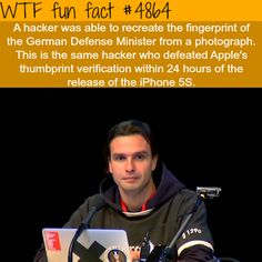 Hacker recreates the fingerprints of the German Defense Minister - WTF fun facts