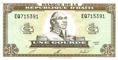 l'argent d' Haïti. This is Haiti's current currency. In comparison to the Dollar it is 1 Haitian dollar to .0022 American dollars.