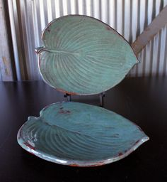 Hosta Plates - Jon Loer 2013 - earthenware
