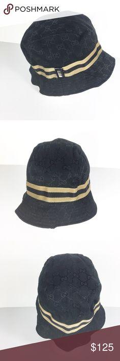 Vintage Gucci Classic Logo Black Bucket Hat Vintage Gucci Classic Logo  Black Bucket Hat Fedora style size xl but runs like a small medium. c95063266bf8