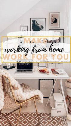 How to work from home successfully. We've put together The *ONLY* Productivity tips for working from home you NEED, to help you go through these crazy times,. Way To Make Money, How To Make, Put Together, Home Hacks, Work On Yourself, Productivity, Home Office, Small Spaces, Tips