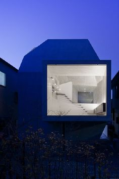 *modern architecture, window, blue* - House in abiko/shigeru fuse