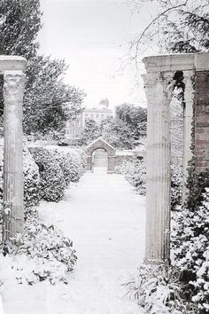 New winter landscape photography christmas narnia ideas Winter Szenen, Winter Is Here, Winter Time, Formal Gardens, Snowy Day, Snow Scenes, Winter Beauty, Winter Landscape, Winter Garden