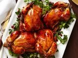 Glazed Cornish Hens With Pomegranate-Rice Stuffing Recipe....making this for the next dinner I host.