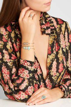 Pascale Monvoisin - Louise 9-karat Rose Gold, Moonstone And Diamond Bracelet - one size