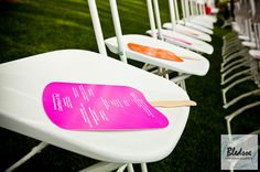 Fan wedding guest favors for a summer wedding,  photographed by Knoxville wedding photography company Bledsoe Photography, featured on The P...