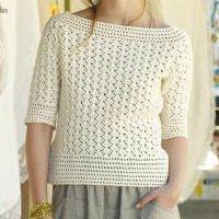 Free Crochet Sweater Pattern called Menorca from Knit Rowan