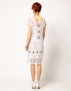 Enlarge ASOS SALON Kaftan Dress with Bright Embroidery