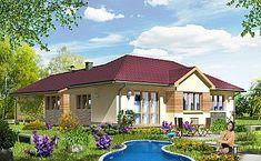 Projekt domu jednorodzinnego KA37 (IN95) | wybieramprojekt.pl Home Fashion, Mansions, House Styles, Outdoor Decor, Home Decor, Decoration Home, Manor Houses, Room Decor, Villas