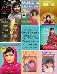 Learn about Malala Yousafzai, the young activist for female education from Pakistan. Get Facts, a great list of books, videos and a documentary. Fantastic role model and leader for students. Inspirational Leaders, Malala Yousafzai, Social Activist, Social Studies Activities, Kids Around The World, Fiction And Nonfiction, Teaching Kids, Teaching Tools, Women In History