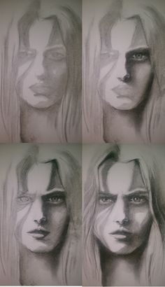 progression drawing #charcoaldrawing #charcoal #drawing #portrait #woman #shadows