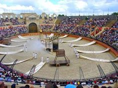 "Puy du Fou, Near Cholet, France - ""Knights, Vikings, Musketeers, Romans - chariot racing"""