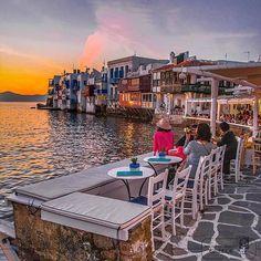 by @stef_greece ... Little Venice quarter, Chora Towb, MYKONOS island, (Η γραφική συνοικία της Μικρης Βενετίας στο νησί της Μυκόνου των Κυκλάδων), CYCLADES islands group - GREECE