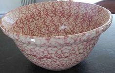 Nice Spongeware Bowl! Love the Red