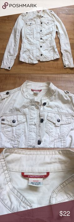 Cream jacket Never worn before UnionBay jacket from Macy's. In great condition. buttons up. UNIONBAY Jackets & Coats