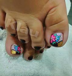Summer Toe Nails, Toe Nail Designs, Toe Nail Art, Finger, Hair Beauty, Pedicures, Nail Art, Designed Nails, Templates