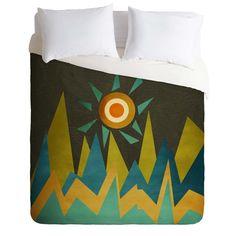 Viviana Gonzalez Retro Landscape II Duvet Cover | DENY Designs Home Accessories