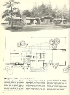 Mid Century House Plans Beautiful Vintage House Plans Houses Mid Century Homes House Plans One Story, One Story Homes, Ranch House Plans, Mansion Plans, The Plan, How To Plan, 1960s House, Mcm House, Modern Floor Plans
