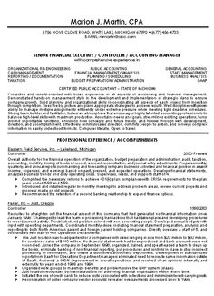 CPA Resume Example For Certifield Public Accountant With Resume Sample  Displaying Job Experience As Accountant, Controller And Financial Consultant