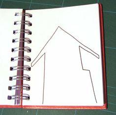 Ilustrador Alexiev Gandman: Paso a paso para ilustrar una casa Azul...