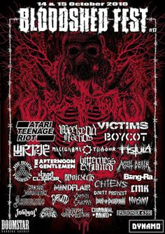 Long Live The Loud 666: 14,15 OCTOBER 2016 BLOODSHED FEST 2016 WITH: VICTI...